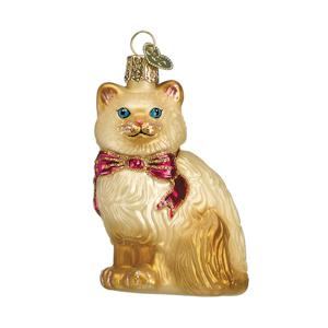 glass christmas cat ornaments