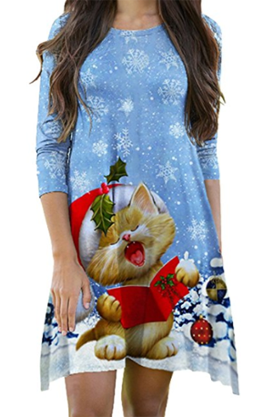 christmas cat dresss women