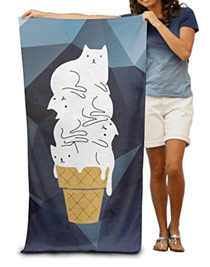 cat beach towel
