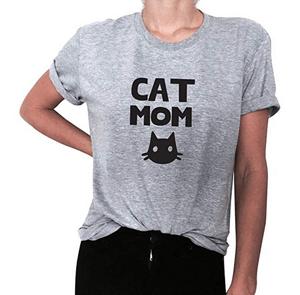simple stylish cat tshirts for women