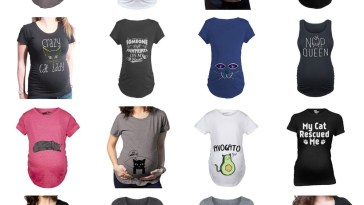 cat maternity tshirts preganant women feature