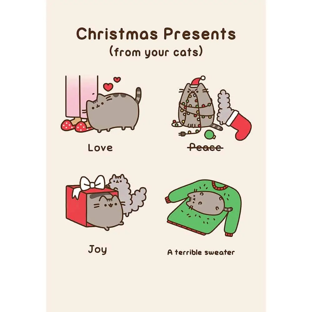 Pusheen Christmas Presents Card MeowCo