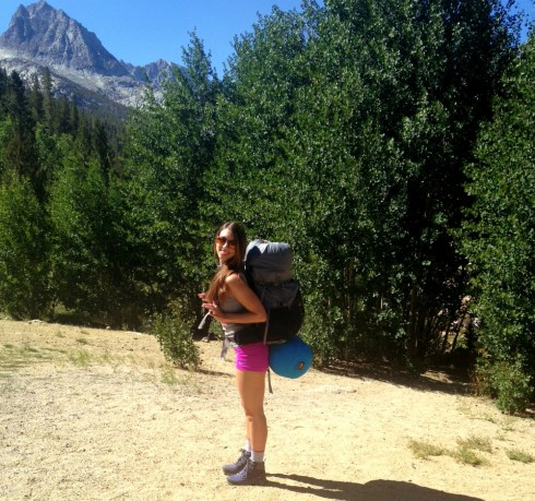 Me backpacking