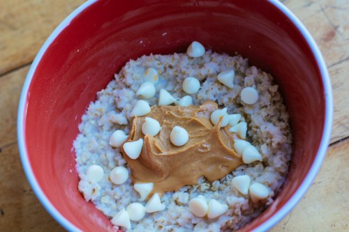 oatmeal with white chocolate chips