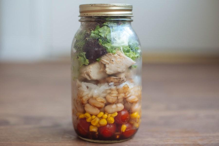 bean-corn-chicken-salad-jar