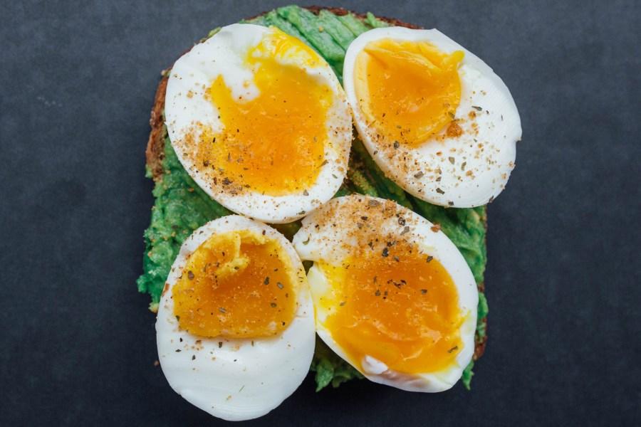 Healthy breakfast toast - classic egg and avocado combo