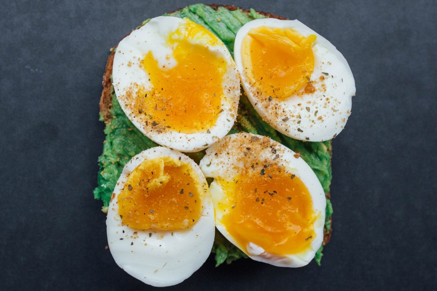 Healthy breakfast toast - classic egg and avocado combo