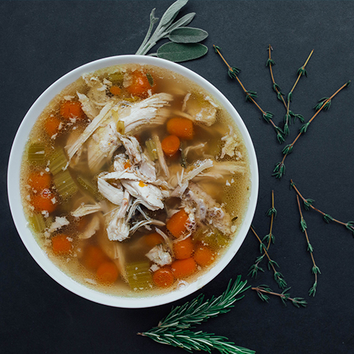 Easy chicken soup - soup in a bowl