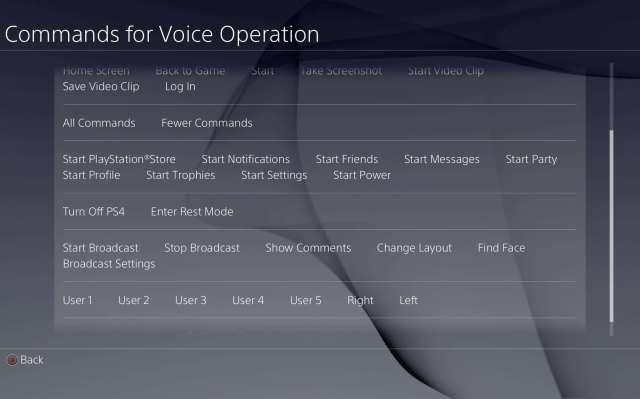 voice comands
