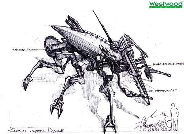 """Изначально Террор-дрон выглядел, как механический таракан.  Итоговый внешний вид больше напоминал клопа, плюс """"ножки"""" у советского БПЛА отбирать не стали."""