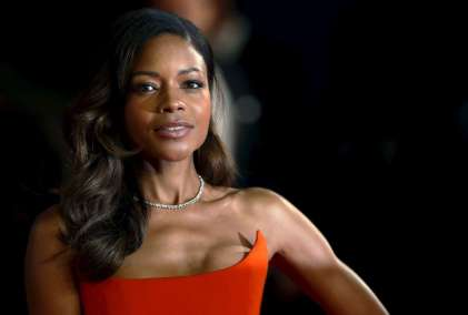 "Naomie Harris poses for photographers on the red carpet at the world premiere of the new James Bond 007 film ""Spectre"" at the Royal Albert Hall in London"
