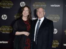 """Producers Kathleen and Frank Marshall arrive at the premiere of """"Star Wars: The Force Awakens"""" in Hollywood"""