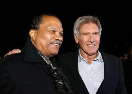 """Actors Williams and Ford arrive at the premiere of """"Star Wars: The Force Awakens"""" in Hollywood"""