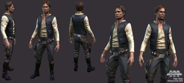 Концепт-арт, на котором изображен Хан Соло, один из персонажей игры.