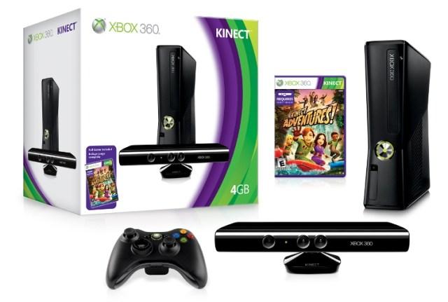 Slim-версия Xbox 360, периферия Kinect и самая продаваемая игра консоли Kinect Adventures