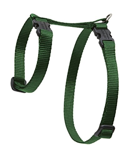 "Premium H-Style Harness - Green, 9-14"" Girth"