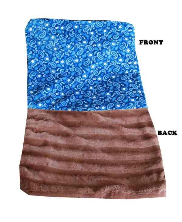 Plush Big Baby Blanket Blue Western