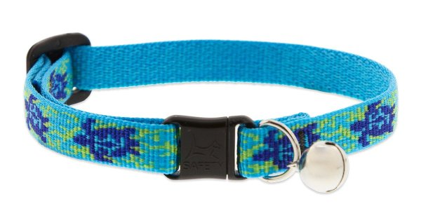 """Premium Safety Collar - Turtle Reef, 8-12"""" with bell"""