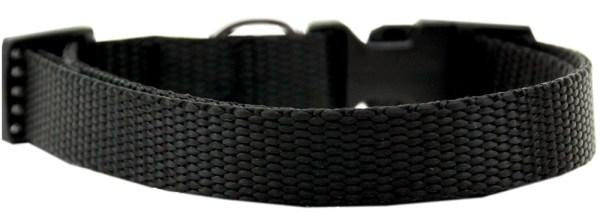 Plain Nylon Large Cat Collar Black
