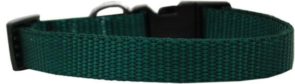 Plain Nylon Cat Safety Collar Green