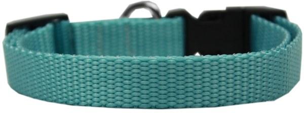 Plain Nylon Cat Safety Collar Ocean Blue