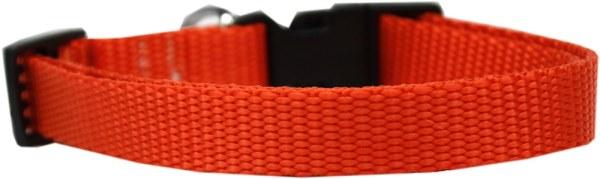 Plain Nylon Large Cat Collar Orange