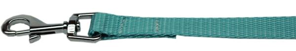 "Plain Nylon Leash 3/8"" by 4ft Ocean Blue"
