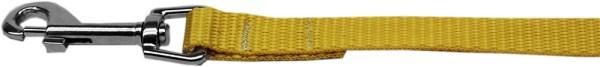 "Plain Nylon Leash 3/8"" by 4ft Yellow"
