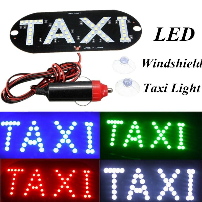 1 Pc מונית LED רכב השמשות Cab מחוון מנורת סימן כחול LED שמשה קדמית מונית אור אוטומטי קישוט מנורה לרכב אבזרים