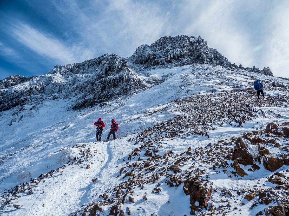 赤岳雪山日帰り登山