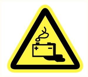 Danger batteries