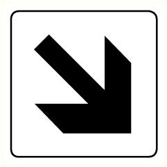 Flèche 45°