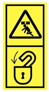 Danger de choc vertical