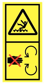 Danger de chute et d'entrainement par élément rotatif 2
