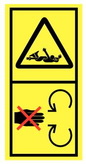Danger d'entrainement et d'écrasement du corps