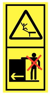 Danger chute d'une hauteur