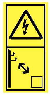 Danger électrique maintenir distance