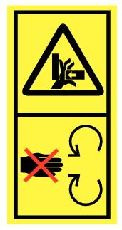 Danger écrasement main