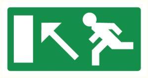 Vers sortie de secours montant gauche