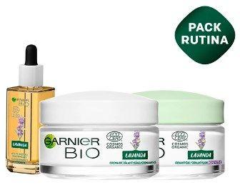 Pack Garnier aceite para la cara + crema hidratación día + crema antiedad noche