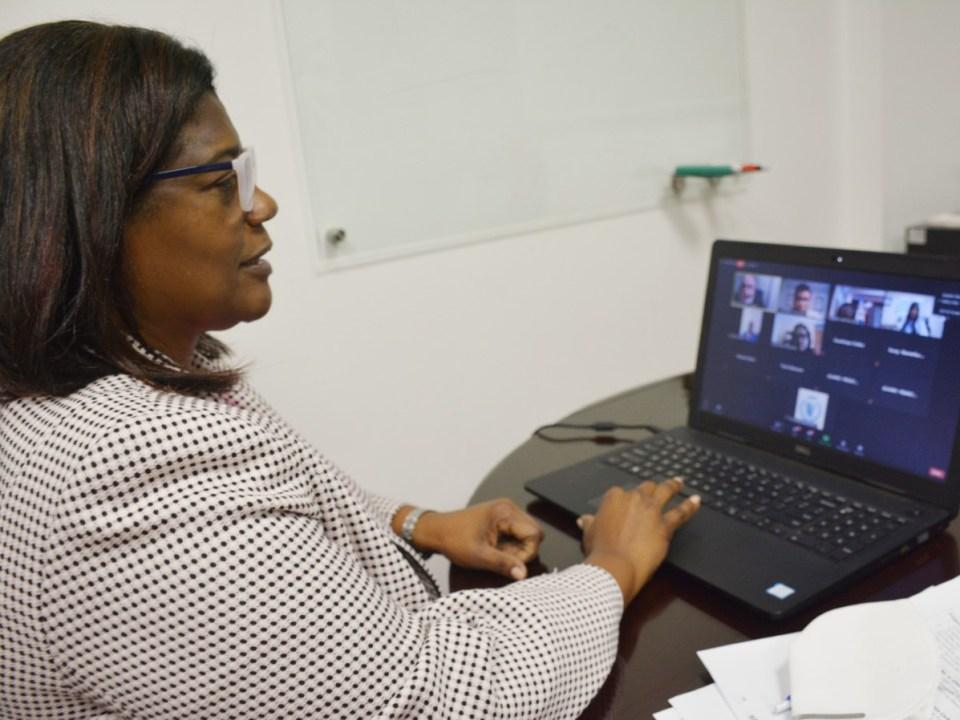 """Sandra Lara, directora general de Cooperación Multilateral, modera por la República Dominicana en el webinario """"Estrategias y aprendizajes en la adaptación necesaria para enfrentar el impacto de la pandemia COVID- 19""""."""