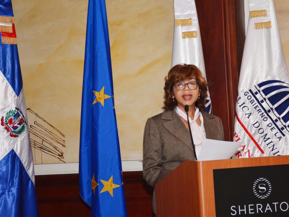Olaya Dotel, viceministra de Cooperación Internacional del Ministerio de Economía, Planificación y Desarrollo.