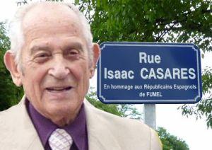 Rue Isaac CASARES en hommage aux Républicains espagnols