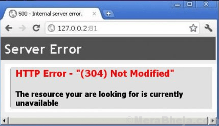 How To Fix HTTP ERROR 304 NOT MODIFIED ERROR