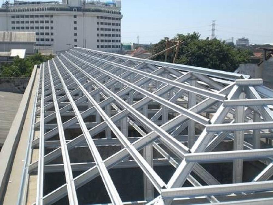 contoh rangka atap baja ringan minimalis tips pemasangan dengan benar merahputih