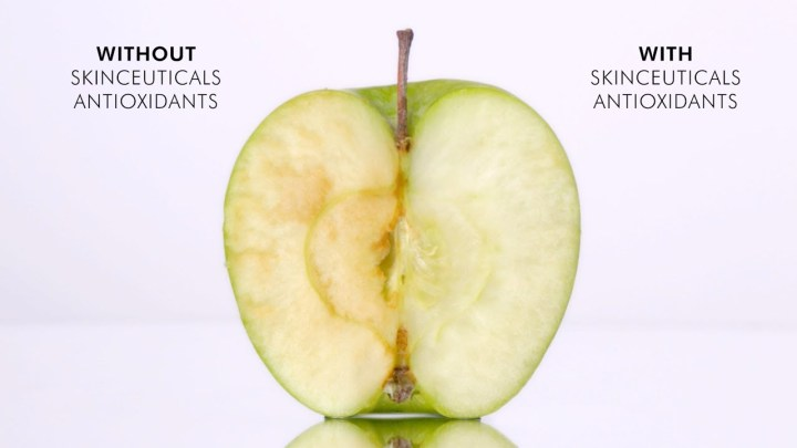 apple with and without serum
