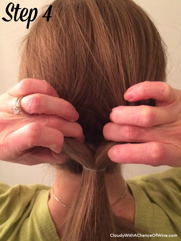 Quick & easy running late hairstyle 4