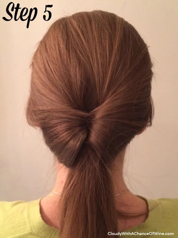 Quick & easy running late hairstyle 5