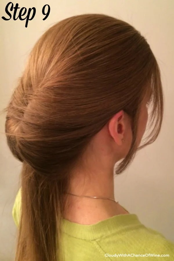Quick & easy running late hairstyle 9