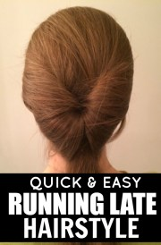quick & easy running late hairstyle